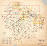 Fort Bend County Map 1960
