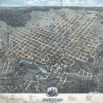 Bird's eye view of the city of Houston 1873