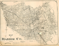 map of Harris County, pre 1911