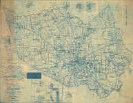 Harris County School Districts road map 1927