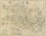 Official Road map of Harris County 1928